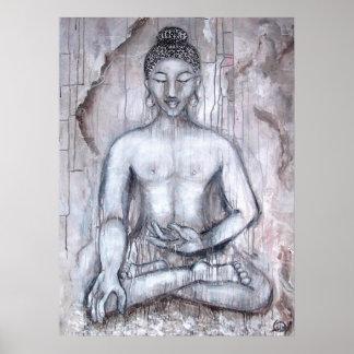 Meditating Buddha Art Print