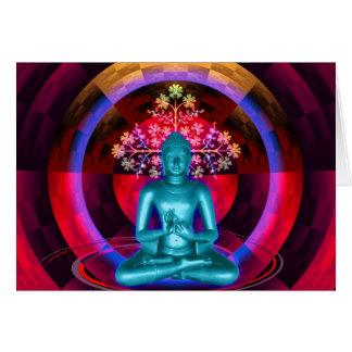 Meditating Buddha Card