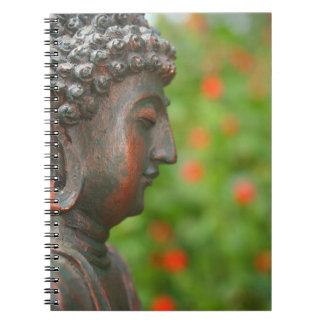 Meditating Buddha in Garden Notebook