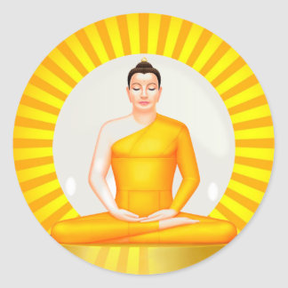 Meditating Buddha sticker