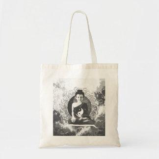 Meditating Buddha with Yin Yang Budget Tote Bag