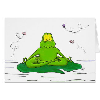 Meditating Frog Card