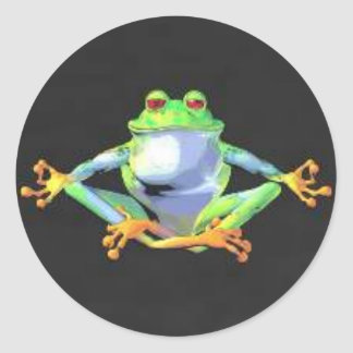 Meditating Frog Stickers