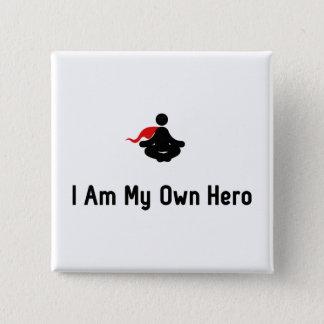 Meditating Hero 2 Inch Square Button