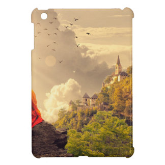 Meditating Monk Before Large Temple iPad Mini Cover