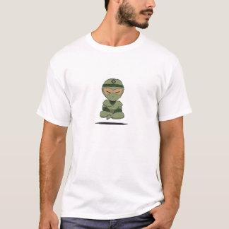 Meditating Ninja (Green) T-Shirt