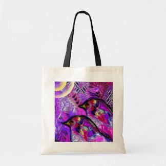 Meditating Violet Birds  bag