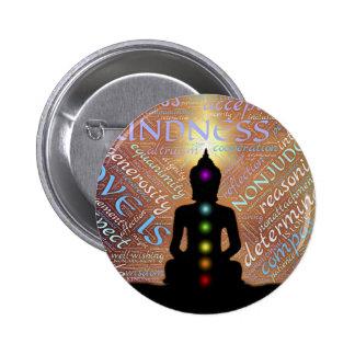 Meditation 2 Inch Round Button