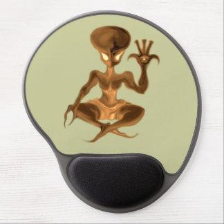 meditation alien 021 gel mouse pad