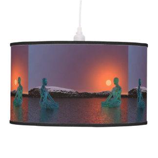 meditation and sun orange hanging lamp