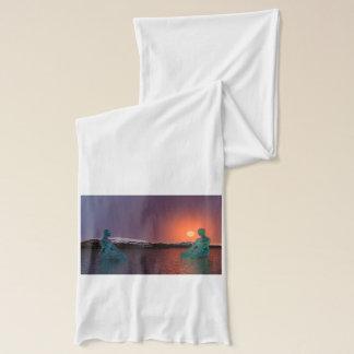 meditation and sun orange scarf
