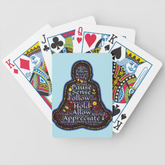 meditation bicycle playing cards