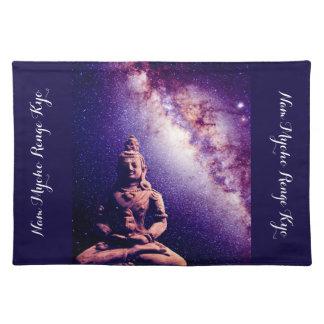 Meditation Buddha Galaxy Space Peace Love Art Placemat