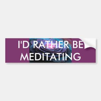 Meditation Bumper Sticker