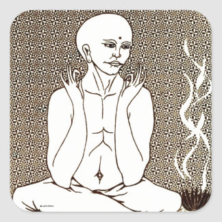 """Meditation"" by E. Lewis Evans Square Sticker"