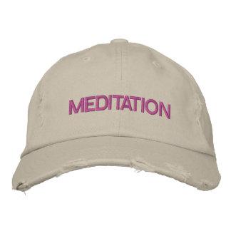 MEDITATION cap Embroidered Baseball Caps