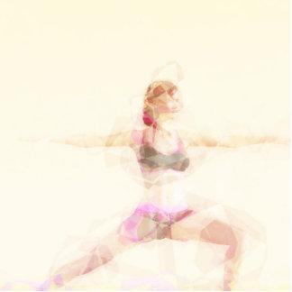 Meditation Concept Illustration Photo Sculpture Button