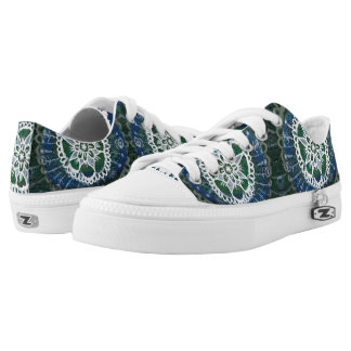Meditation Custom Zipz Low Top Shoes White mandala