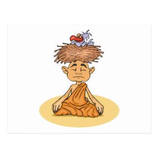 Méditation drôle cartes postales