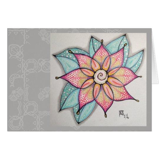 Meditation Flowers, blank inside Card