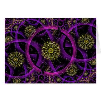 Meditation gold flower greeting card
