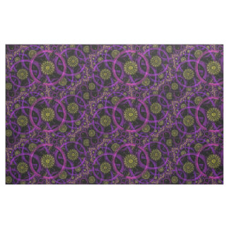 Meditation gold flower print fabric