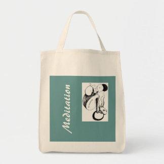 Meditation Grocery Tote Bag