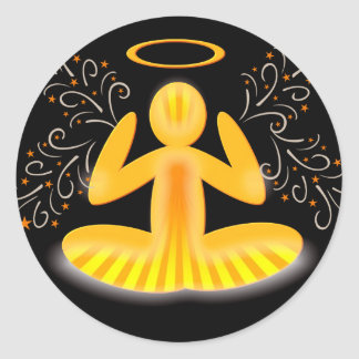 meditation halo stickers