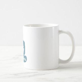 Meditation Human silhouette isolated on white Coffee Mug