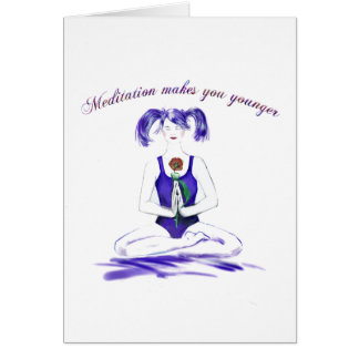 Meditation Humour-birthday Card