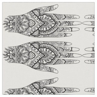 Meditation Inspired Mehndi Hand Fabric