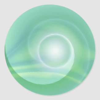 Meditation lightgreen created by Tutti Classic Round Sticker