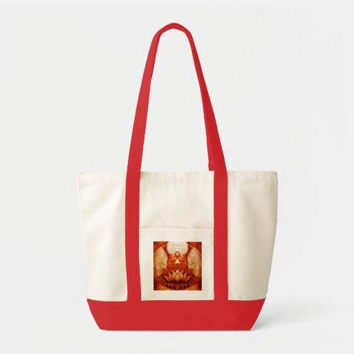 Meditation Lotus Canvas Bags