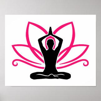 Meditation lotus poster