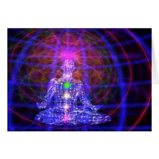 Meditation Man Greeting Card - 5x7