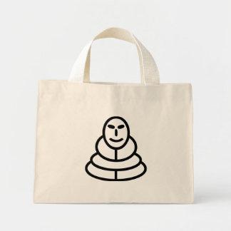 Meditation man sitting mini tote bag