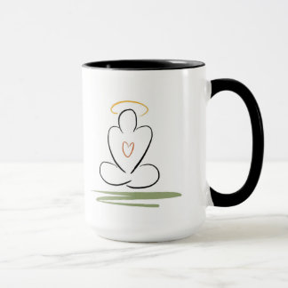 Meditation Man Zen-Inspired Design Mug, Mid-Size Mug