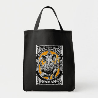 Meditation Mantra Yoga Tote Grocery Tote Bag