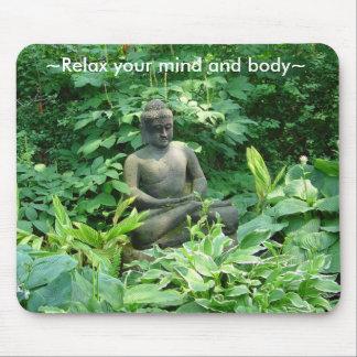 Meditation Meditating Peaceful Garden Mousepad