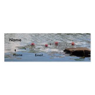 Meditation On Water Profile Card Mini Business Card