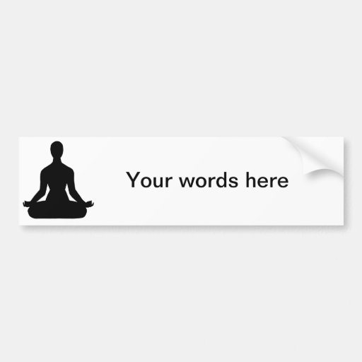 Meditation Pose Silhouette Bumper Sticker