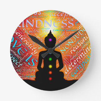 Meditation Round Clock