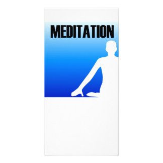 Meditation silhouette of a person customized photo card
