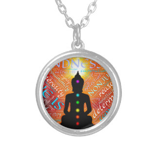 Meditation Silver Plated Necklace