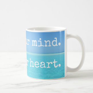 Meditation Still your mind Open your heart Coffee Mug