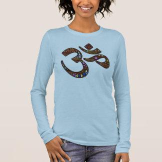 Meditation symbol, colorful emoji-decorated design long sleeve T-Shirt