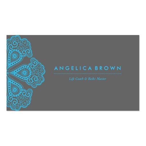 Meditation Teacher & Life Coach Business Card Business Card