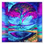 Meditation Tree of Life in Purple Photo Art