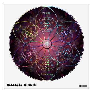 Meditation Wheel Wall Decal