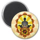 Meditation Yoga Aum, orange and yellow Refrigerator Magnet